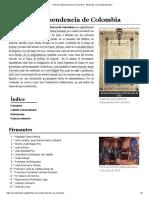 Acta de Independencia de Colombia - Wikipedia, La Enciclopedia Libre
