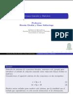 Sistem as Line a Les Matrices