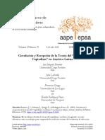 Circulacion y Recepcion de La Teoria Del Capitalismo Academico