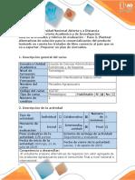 Guía y rubrica de  evaluación. Paso 3. Plantear alternativas de solución . Proponer un plan de mercadeo (1).docx