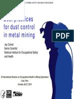 Las Mejores Prácticas Para El Control de Polvo en La Minería de Carbón
