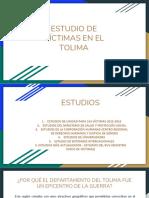 Estudio de Víctimas en El Tolima