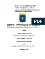 Extracción y Cuantificación de Antocianinas de Maíz Morado (Zea Mayz l.) Utilizando Dos Solventes