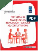 4 Protocolos de Mecanismos de Negociación y Solución Del Conflicto Penal Convertido 1