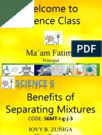 Benefits of Separating Mixtures