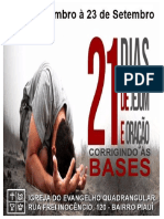 21 Dias de Jejum e Oração Corrigindo as Bases