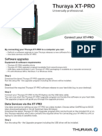 Thuraya XT-PRO Connection Manual