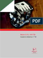 SEAT - Motor 2.0 L 16V TDi Cuaderno didáctico n. o 99