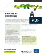 Safe use of Quad bikes