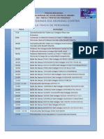 Cronograma Dia de Trata 30 de Julio