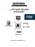 Resistance Welding elements sizing chart