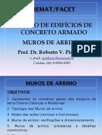 MUROS DE ARRIMO - PARTE I