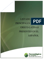 Listado de Raíces Greco-latinas