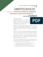 Fundamentos Basicos fisiologia Obstetrica y Adaptacion Neonatal