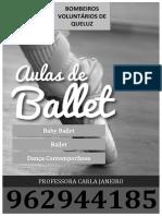 Cartaz Ballet Bombeiros 2018