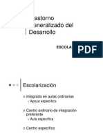 1.2 Trastorno Generalizado del Desarrollo. Escolarización