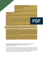 Metodo de Concentracion Flotacion de Faust