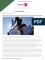 Cultura de paz y migrantes en un México violento