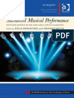 (Sempre Studies in the Psychology of Music) Ioulia Papageorgi, Graham Welch-Advanced Musical Performance_ Investigations in Higher Education Learning-Ashgate Pub Co (2014)