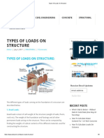 Types of Loads on Structure