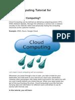 Cloud Computing Tutorial for Beginner1