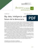 1 Publicación Aportes Al Debate Parlamentario 4 Big Data