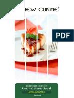 Nivel Avanzado Semana 4 New Cuisine