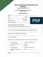 Protocolo Neuropsi Con Escolaridad
