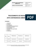 Pr 554 - Procedimiento Ante Contingencias Ambientales (0)