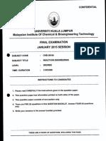 Ckb 20104 - Reaction Engineering (1)