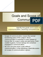 Goals and Scope Of