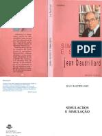 Jean Baudrillard_ Maria João da Costa Pereira - Simulacros e simulação-Relógio dþÁgua (1991)
