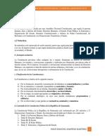 Temario de Derecho Constitucional y Derecho Administrativo