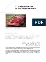 Critical Point of Security on Meat Products From the Halal Certification Perspective