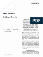 Shear Transfer in Reinfored Concrete