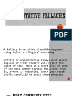 Fallacies in Arguements