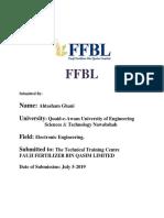 internship report FFBL in 2019