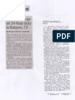 Manila Standard, July 30, 2019, DOH workers go on 24-hour duty in Batanes, CV.pdf