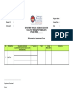 Mid Term Assessment Form