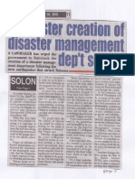 Peoples Tonight, July 30, 2019, Faster creation of disaster management dep't sought.pdf