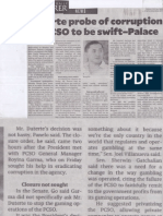 Philippine Daily Inquire, July 30, 2019, Duterte probe of corruption in PCSO to be swift-Palace.pdf