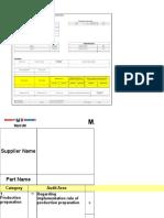 Self Assessment Sheet by Vendor