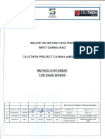 Method Statement for Road Works