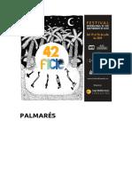 42 Festival Internacional de Cine Independiente de Elche. Palmarés