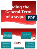 Finding the General Term 3 Variables