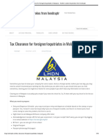 Tax Clearance for Foreigner_expatriates in Malaysia