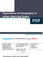 Importance of Geography in Urban Planning Issues