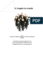 Teaching English for adult