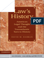 [Cambridge Historical Studies in American Law and Society] David M. Rabban - Law's History_ American Legal Thought and the Transatlantic Turn to History (2012, Cambridge University Press)