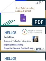 Top Ten Add-Ons for Google Forms